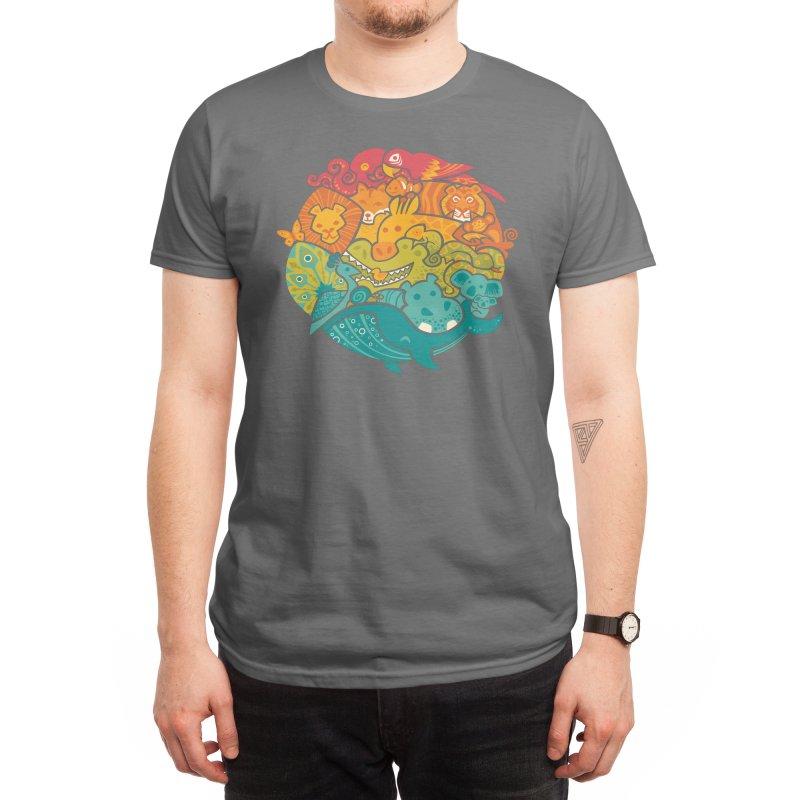 Animal Rainbow Men's T-Shirt by Waynem