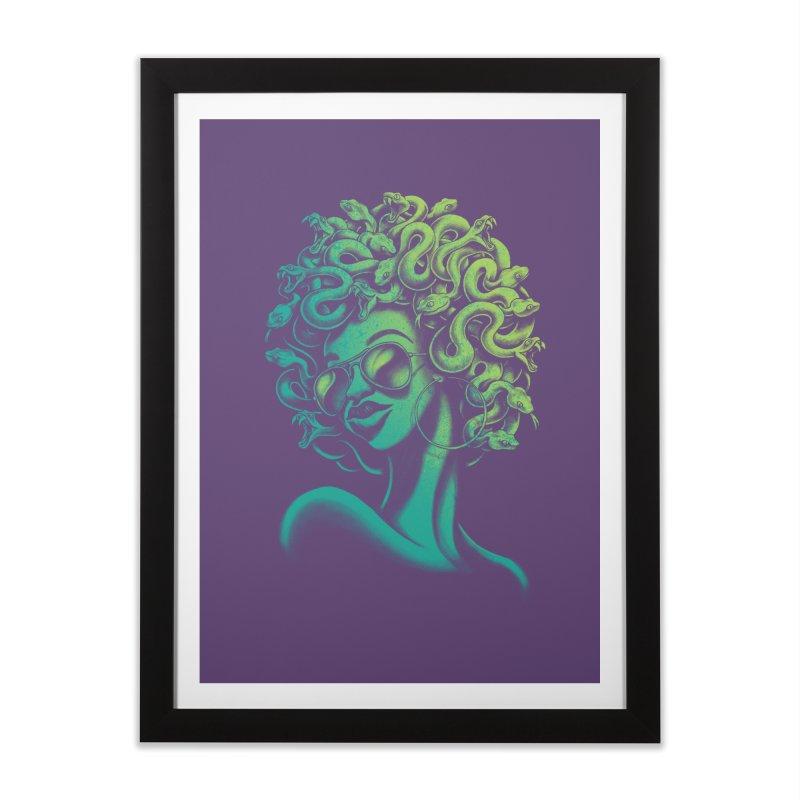 Funky Medusa Home Framed Fine Art Print by Waynem