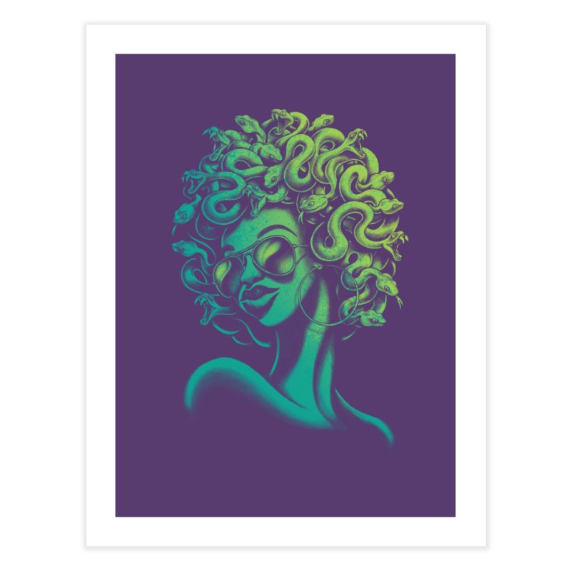Funky Medusa Home Fine Art Print by Waynem