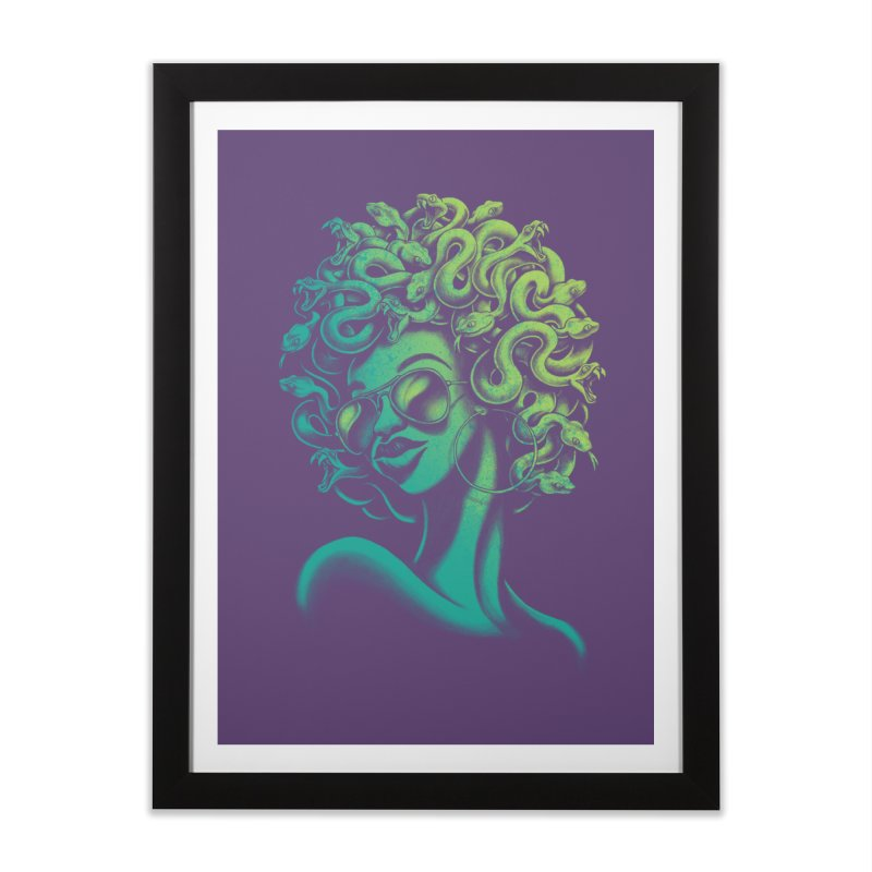 Funky Medusa Home Framed Fine Art Print by Waynem