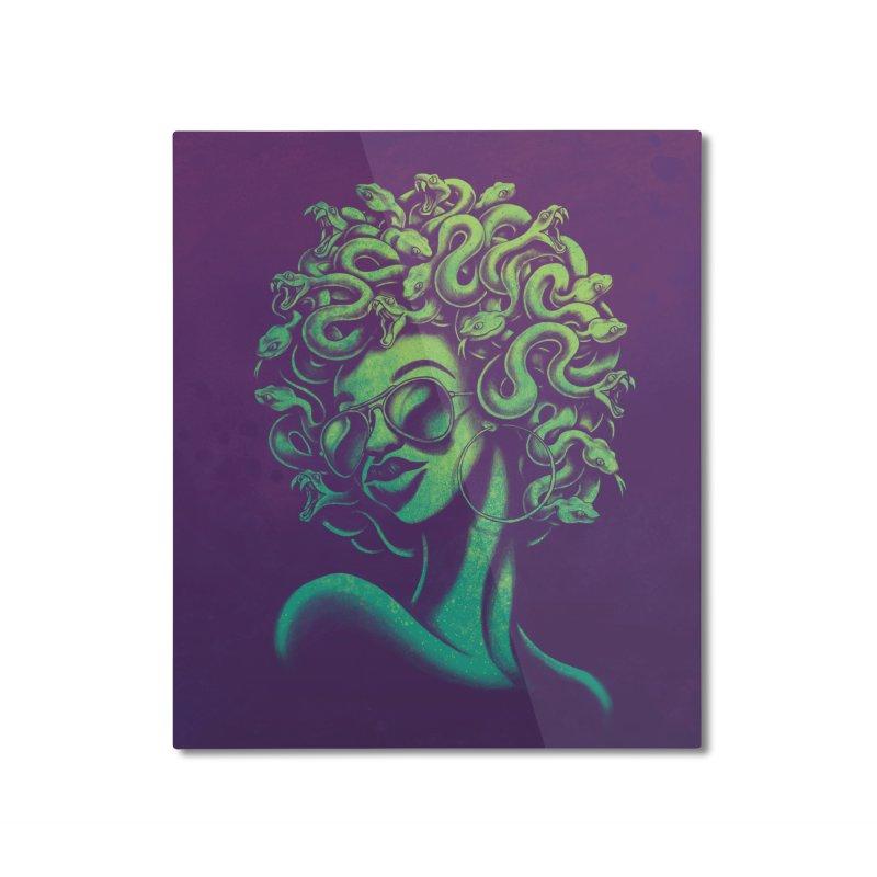 Funky Medusa Home Mounted Aluminum Print by Waynem