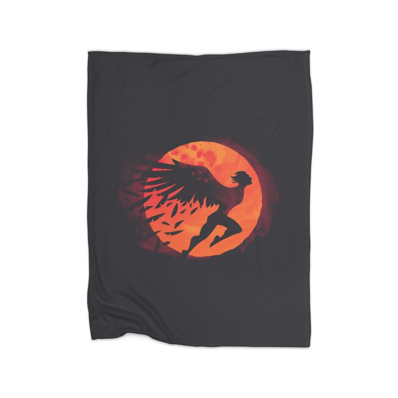 Icarus: Sunset Home Fleece Blanket by Waynem