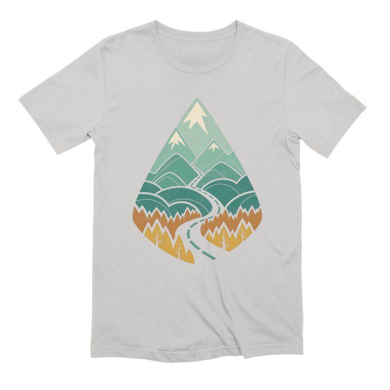 The Road Goes Ever On Men's T-Shirt by Waynem