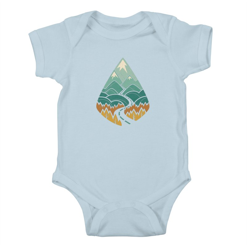 The Road Goes Ever On Kids Baby Bodysuit by Waynem