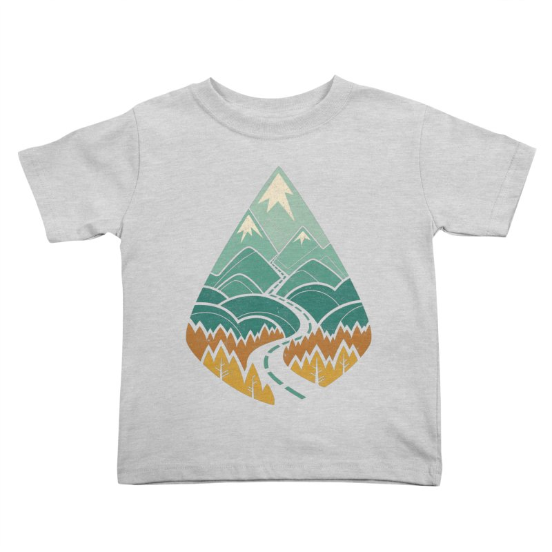 The Road Goes Ever On Kids Toddler T-Shirt by Waynem