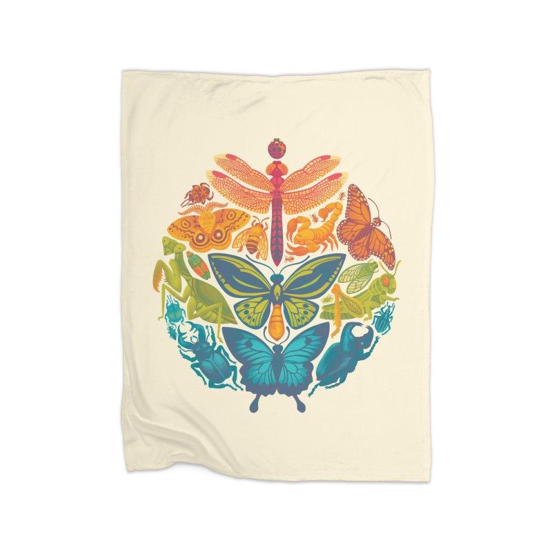 Bugs & Butterflies Home Fleece Blanket by Waynem