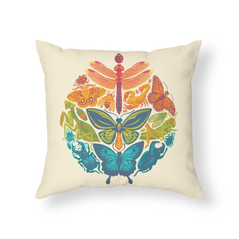 Bugs & Butterflies Home Throw Pillow by Waynem