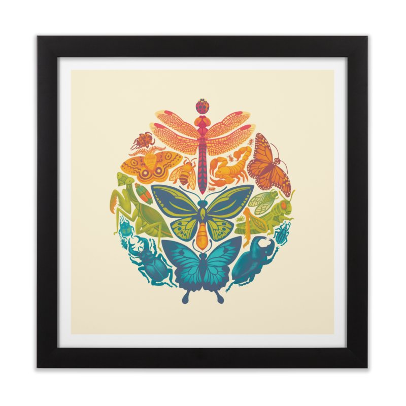Bugs & Butterflies Home Framed Fine Art Print by Waynem