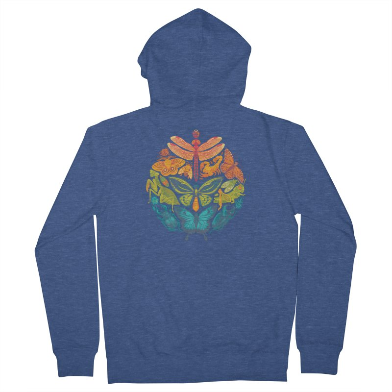 Bugs & Butterflies Men's Zip-Up Hoody by Waynem