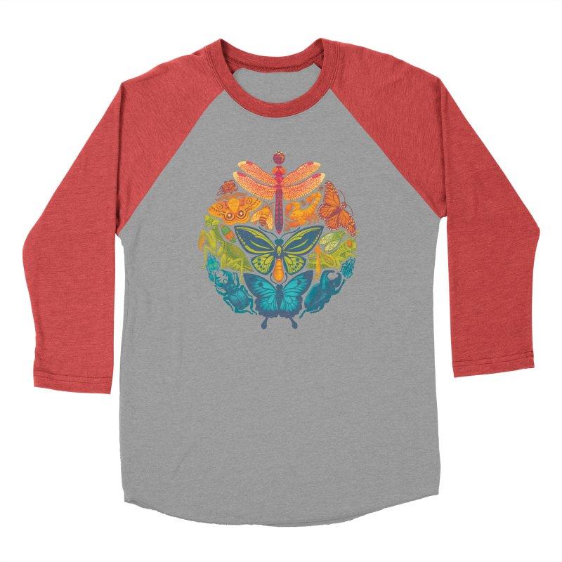 Bugs & Butterflies Men's Baseball Triblend T-Shirt by Waynem