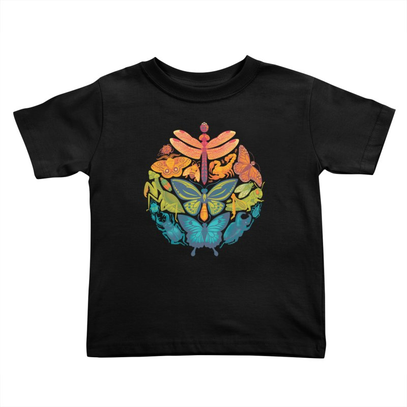 Bugs & Butterflies Kids Toddler T-Shirt by Waynem