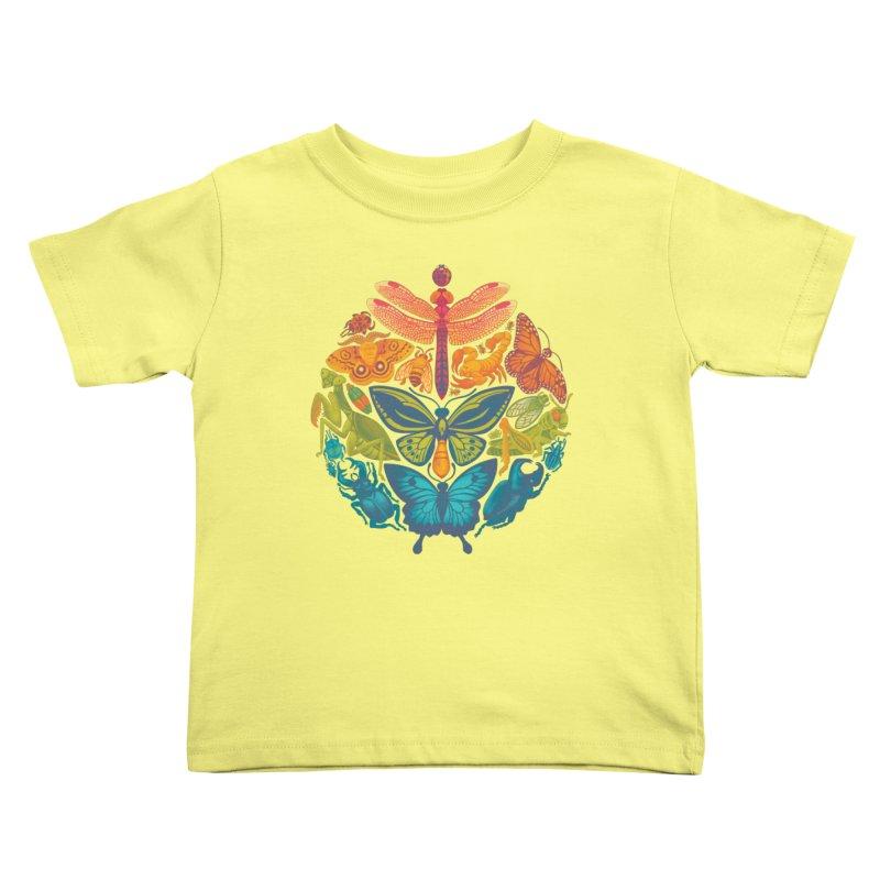 Bugs & Butterflies Kids Toddler T-Shirt by Waynem