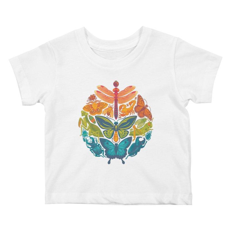 Bugs & Butterflies Kids Baby T-Shirt by Waynem