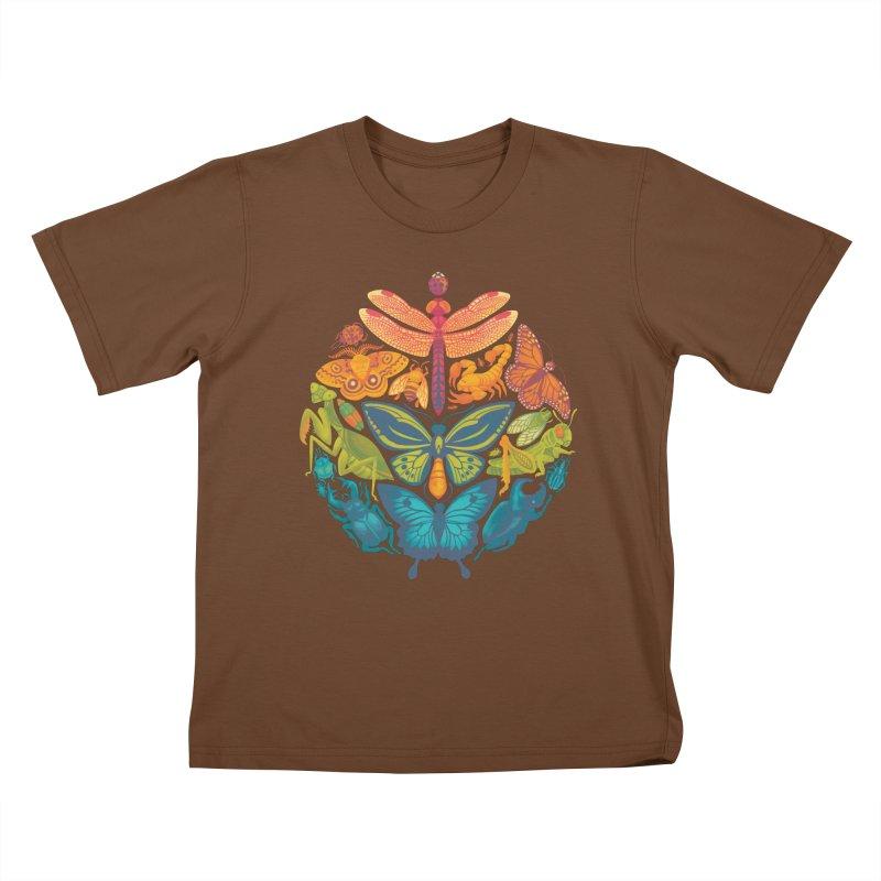 Bugs & Butterflies Kids T-Shirt by Waynem