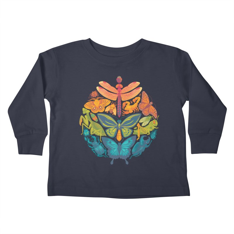 Bugs & Butterflies Kids Toddler Longsleeve T-Shirt by Waynem