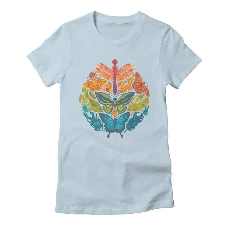 Bugs & Butterflies Women's Fitted T-Shirt by Waynem
