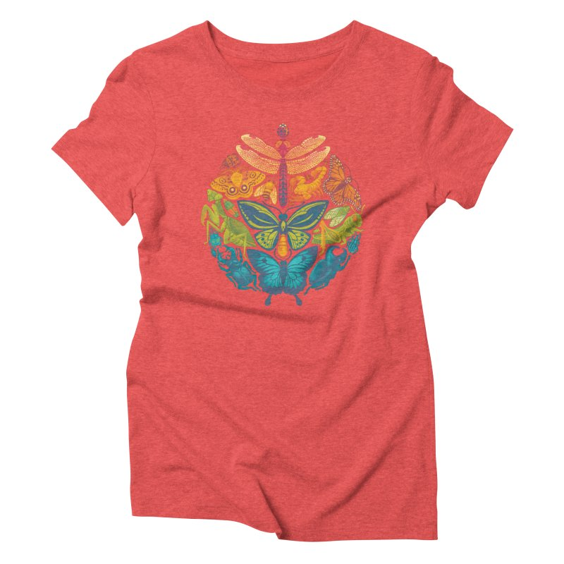 Bugs & Butterflies Women's Triblend T-Shirt by Waynem