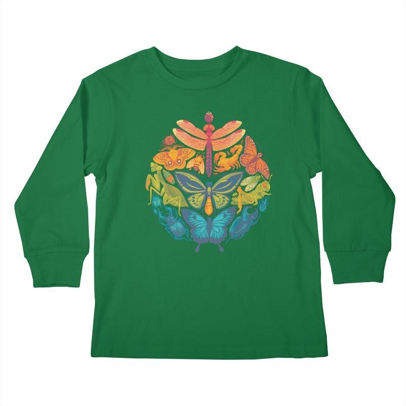 Bugs & Butterflies Kids Longsleeve T-Shirt by Waynem