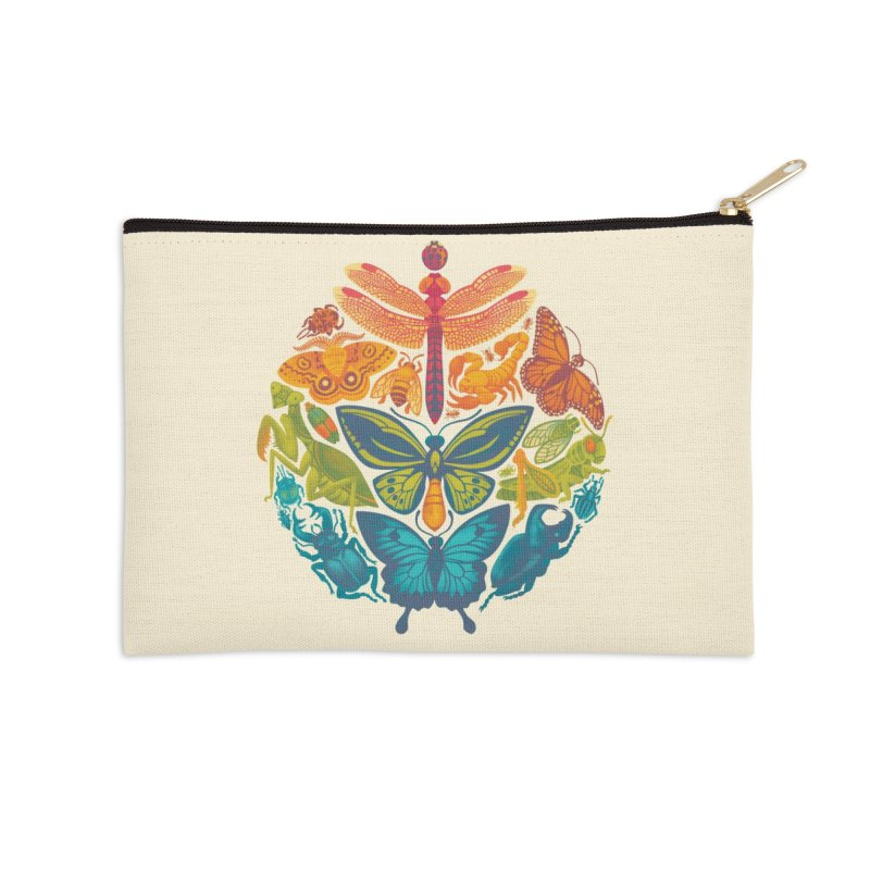 Bugs & Butterflies Accessories Zip Pouch by Waynem