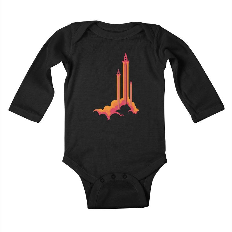Lift Off Kids Baby Longsleeve Bodysuit by Waynem