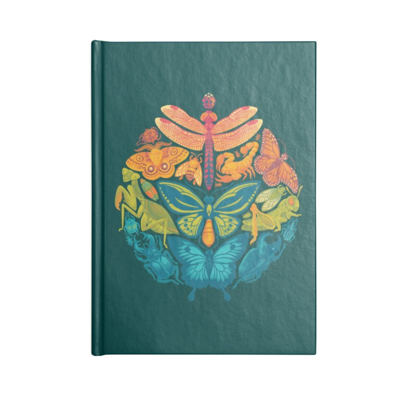 Bugs & Butterflies (green) Accessories Notebook by Waynem