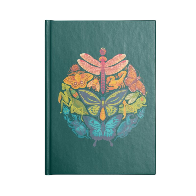 Bugs & Butterflies : Green Accessories Notebook by Waynem