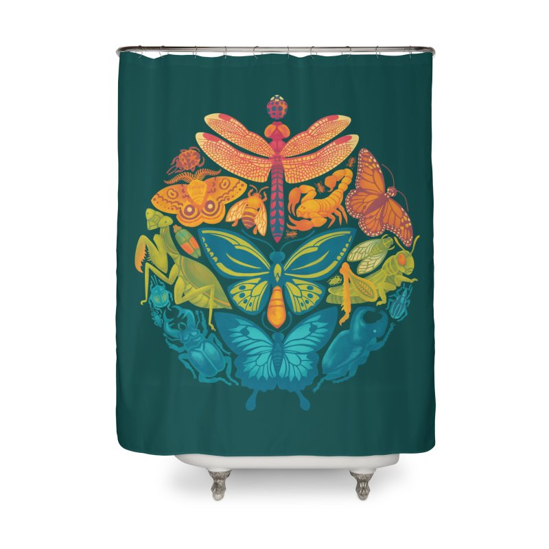 Bugs & Butterflies 2 Home Shower Curtain by Waynem