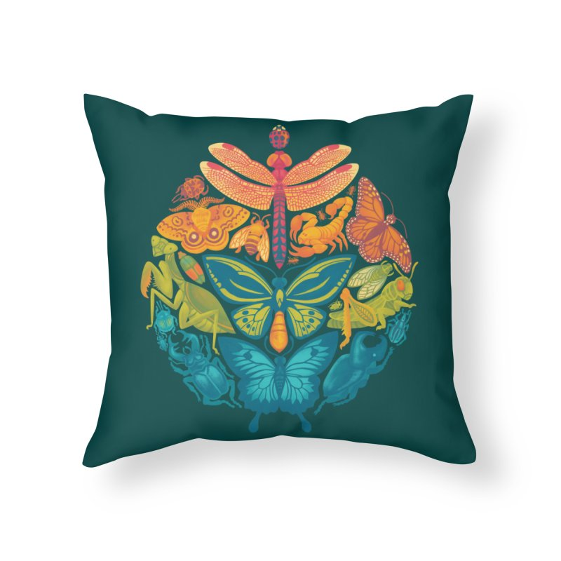 Bugs & Butterflies 2 Home Throw Pillow by Waynem