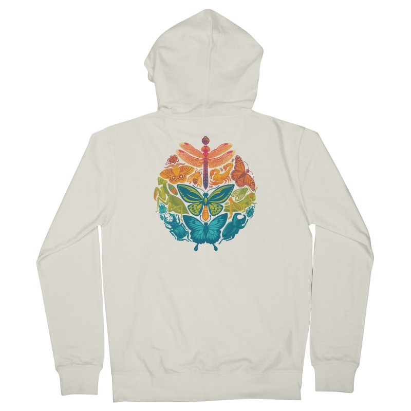 Bugs & Butterflies 2 Women's French Terry Zip-Up Hoody by Waynem