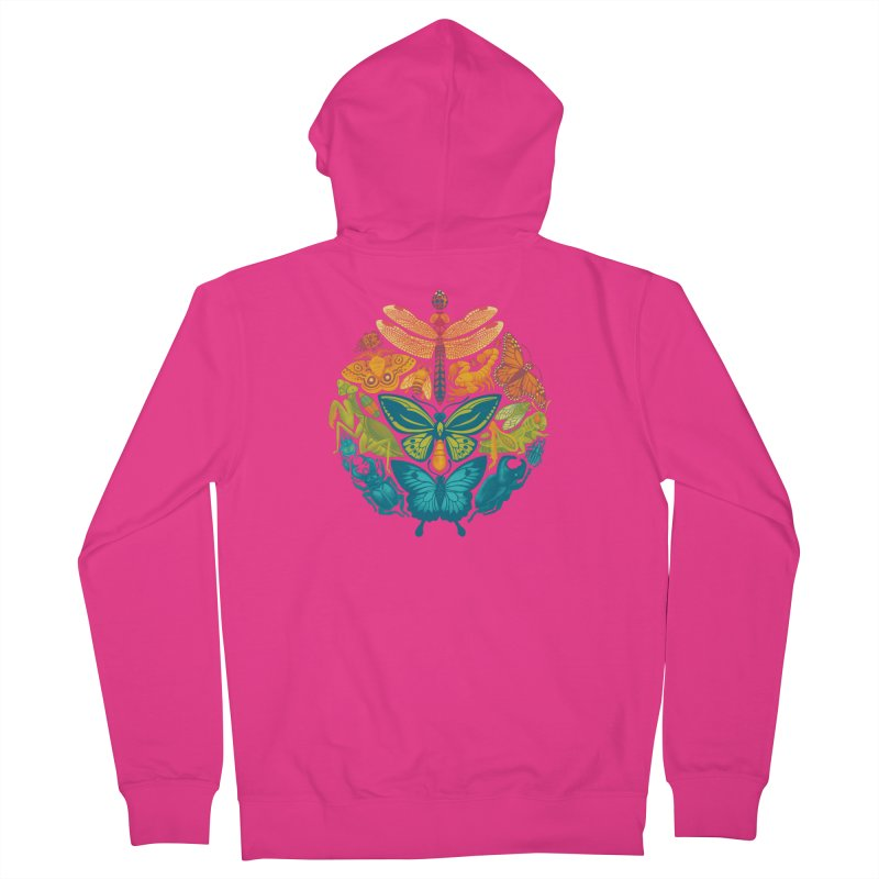 Bugs & Butterflies 2 Men's French Terry Zip-Up Hoody by Waynem