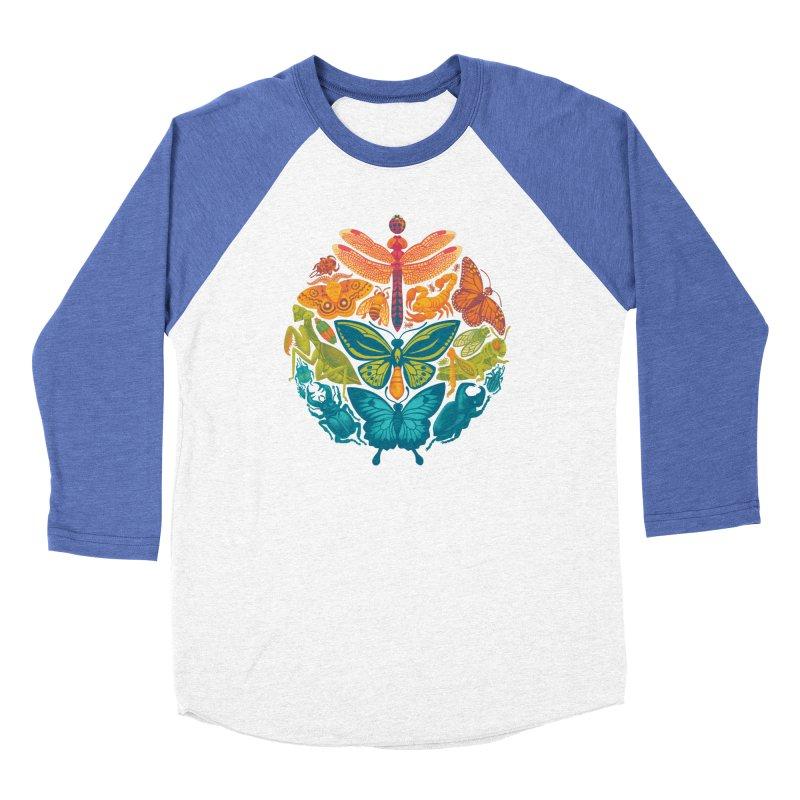 Bugs & Butterflies 2 Women's Baseball Triblend Longsleeve T-Shirt by Waynem