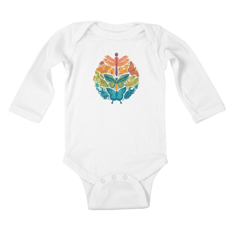 Bugs & Butterflies 2 Kids Baby Longsleeve Bodysuit by Waynem