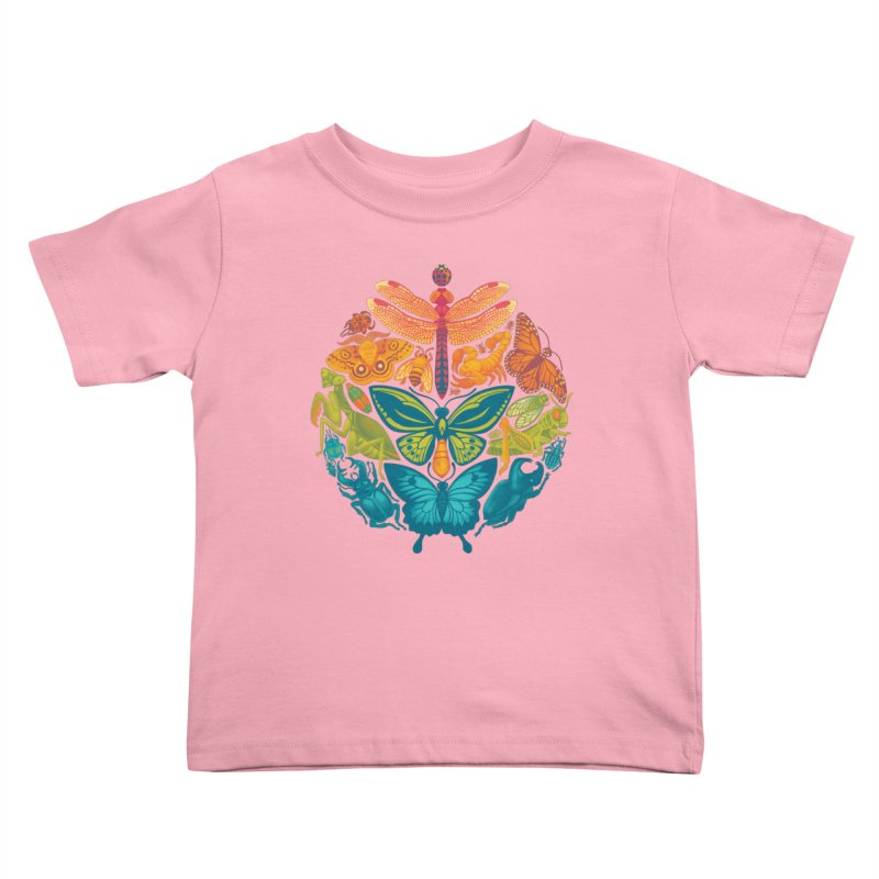 Bugs & Butterflies 2 Kids Toddler T-Shirt by Waynem