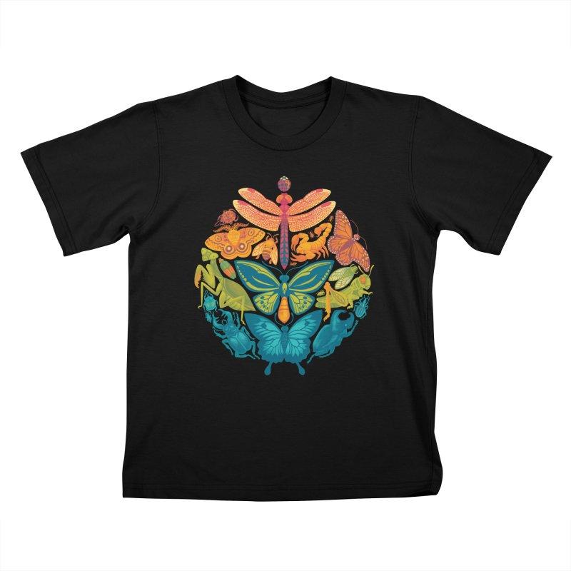 Bugs & Butterflies 2 Kids T-Shirt by Waynem