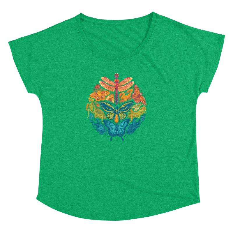 Bugs & Butterflies (green) Women's Dolman by Waynem