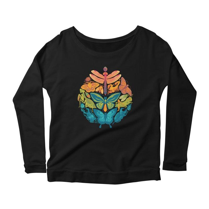 Bugs & Butterflies 2 Women's Scoop Neck Longsleeve T-Shirt by Waynem