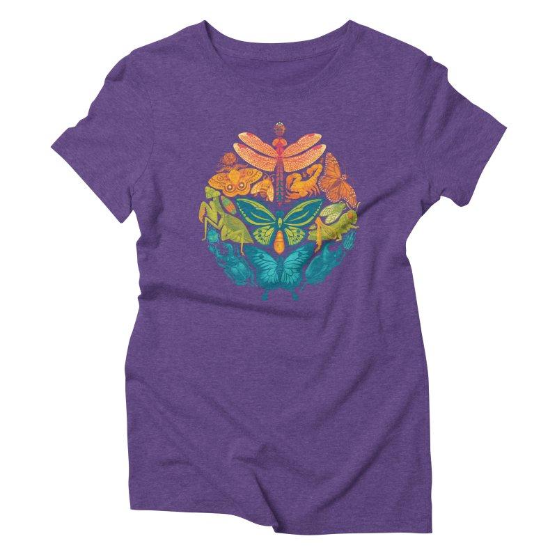 Bugs & Butterflies 2 Women's Triblend T-Shirt by Waynem