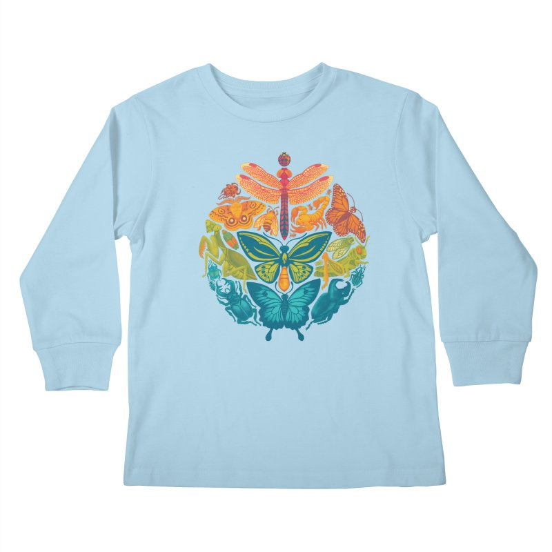 Bugs & Butterflies 2 Kids Longsleeve T-Shirt by Waynem