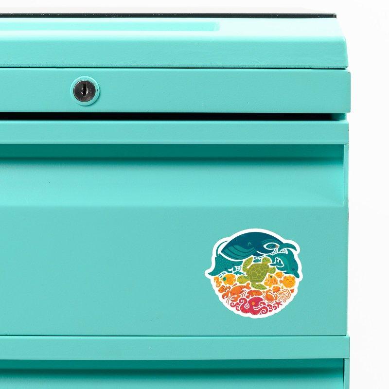 Aquatic Rainbow Accessories Magnet by Waynem