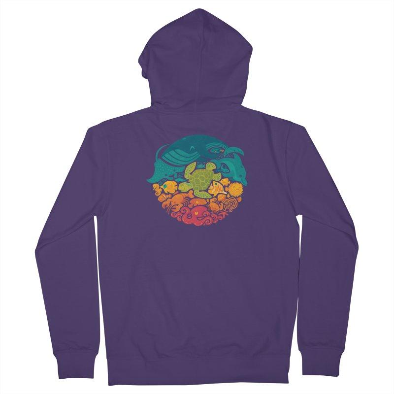Aquatic Rainbow Women's Zip-Up Hoody by Waynem