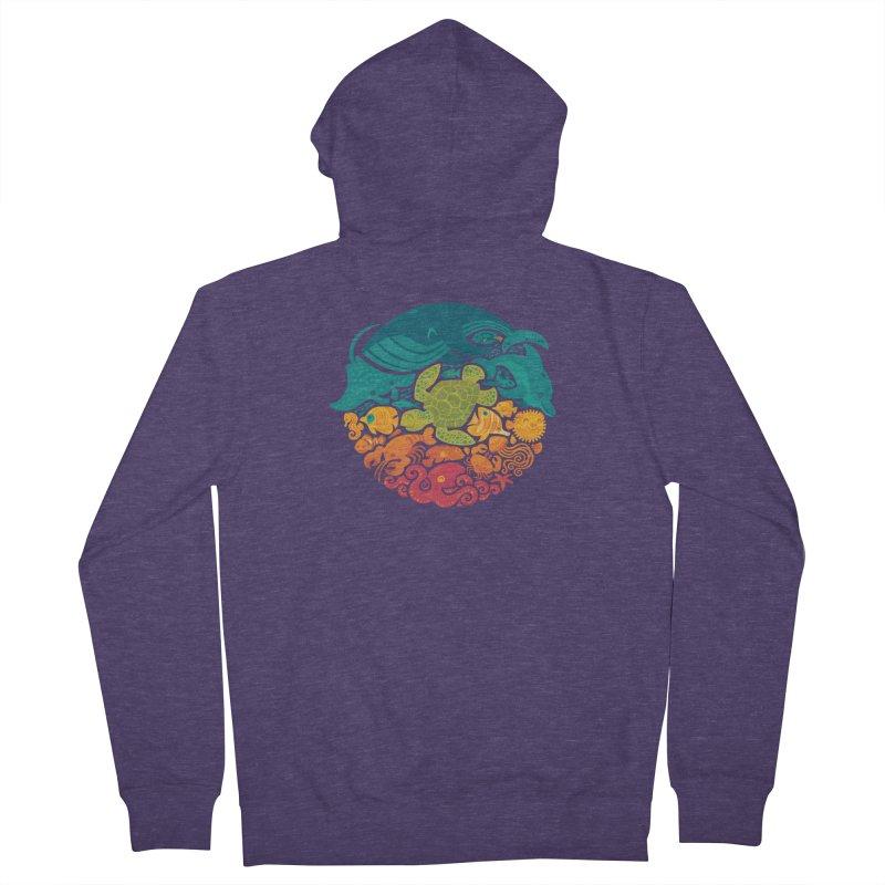 Aquatic Rainbow Men's Zip-Up Hoody by Waynem