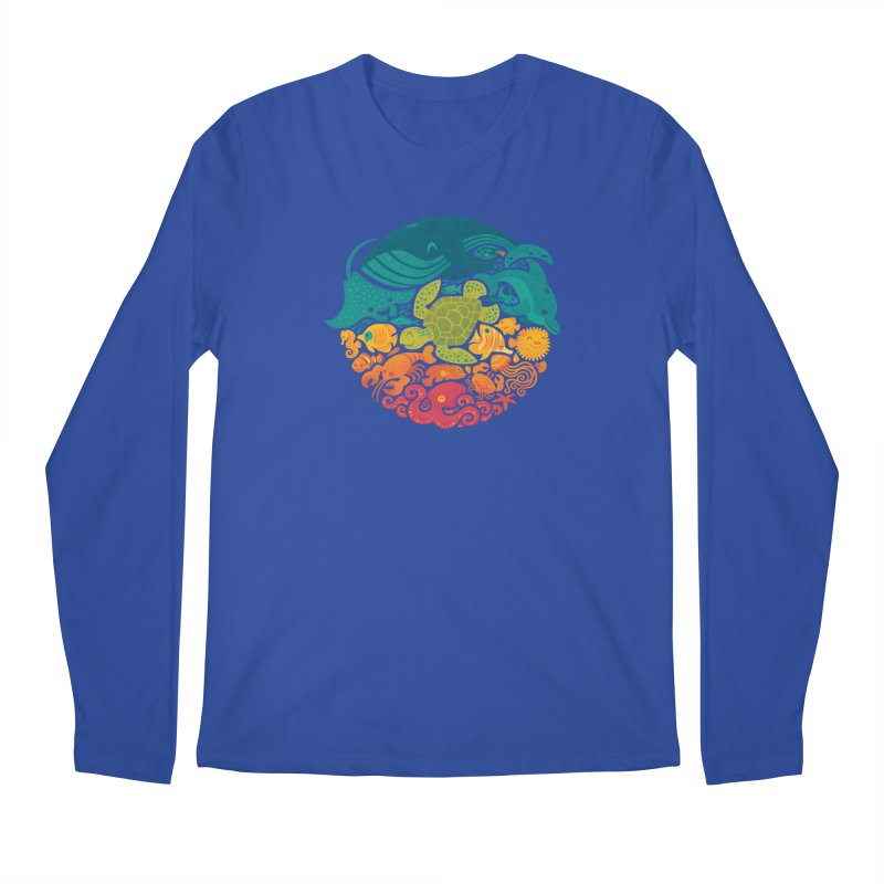 Aquatic Rainbow Men's Longsleeve T-Shirt by Waynem