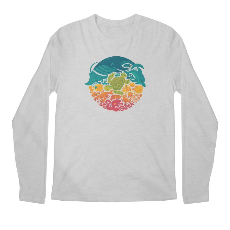 Aquatic Rainbow Men's Longsleeve T-Shirt by Waynem