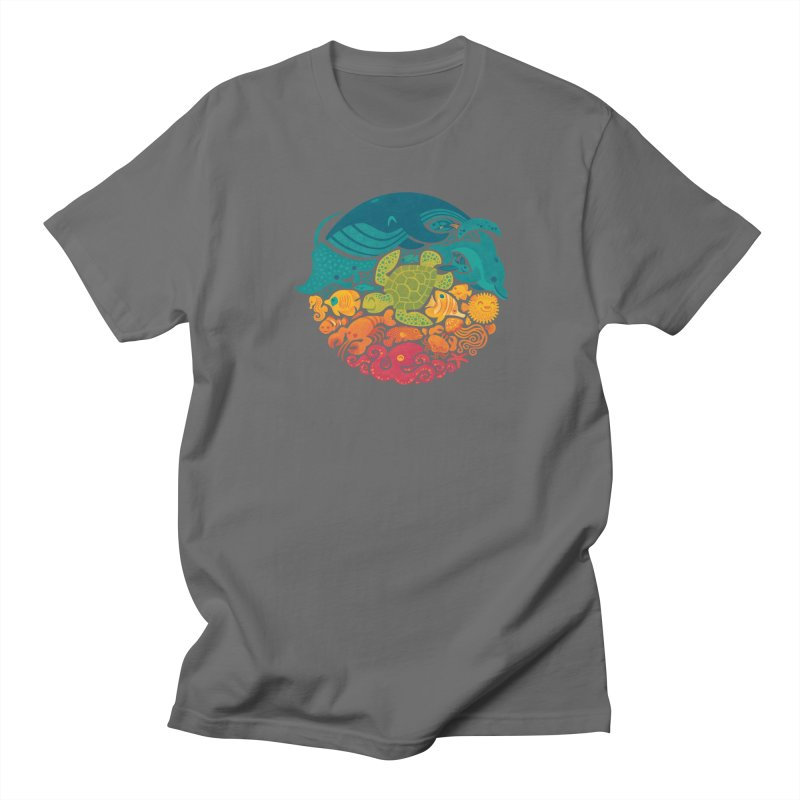 Aquatic Rainbow Men's T-shirt by Waynem