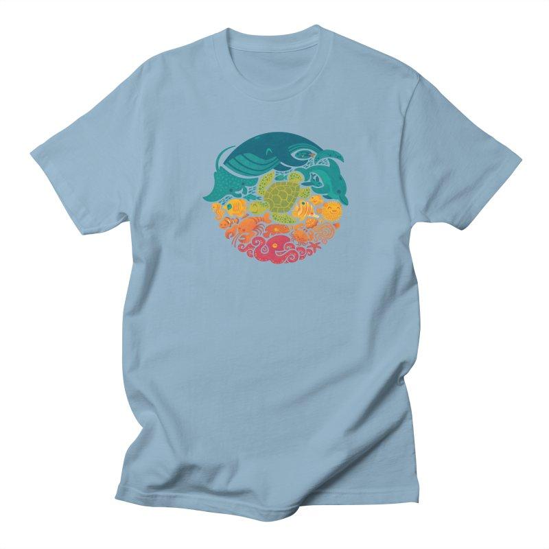 Aquatic Rainbow Women's Unisex T-Shirt by Waynem