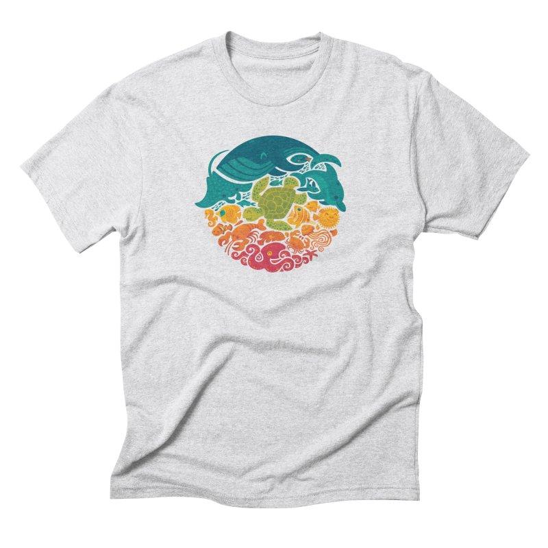 Aquatic Rainbow Men's Triblend T-shirt by Waynem