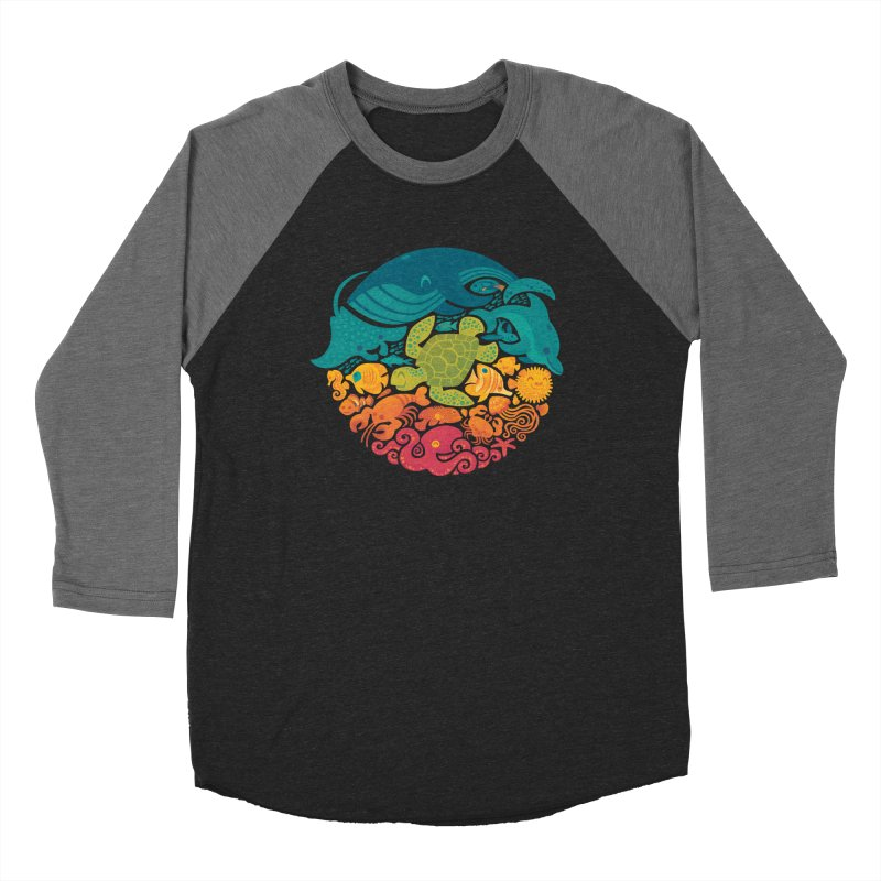 Aquatic Rainbow Women's Baseball Triblend T-Shirt by Waynem
