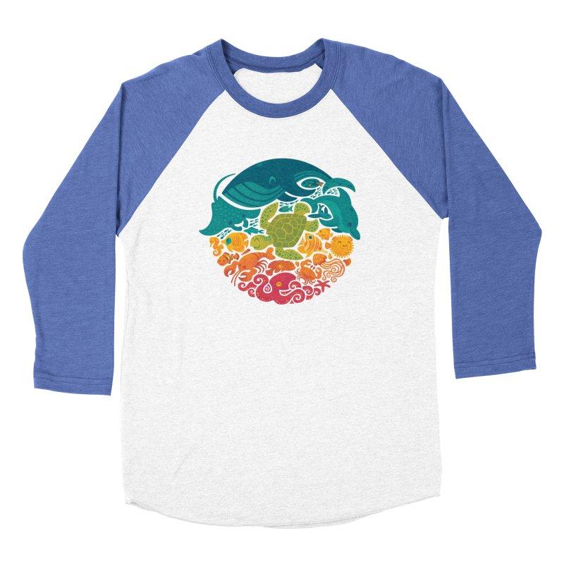 Aquatic Rainbow Men's Baseball Triblend T-Shirt by Waynem