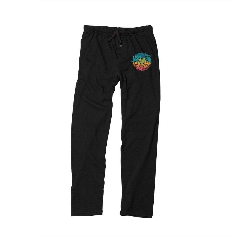 Aquatic Rainbow Men's Lounge Pants by Waynem