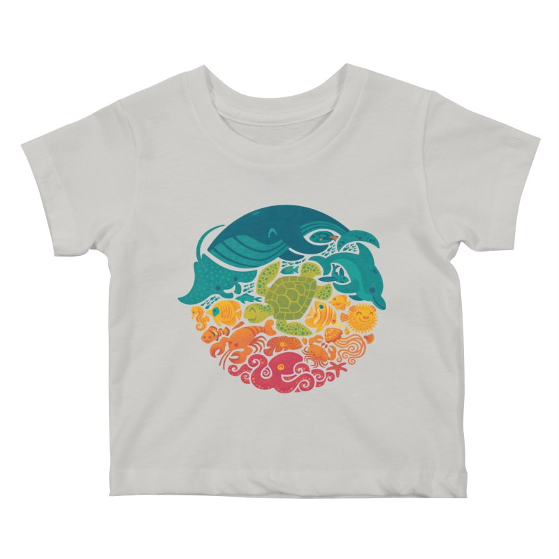Aquatic Rainbow Kids Baby T-Shirt by Waynem